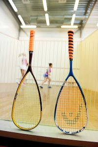 close-up-of-squash-rackets-in-club